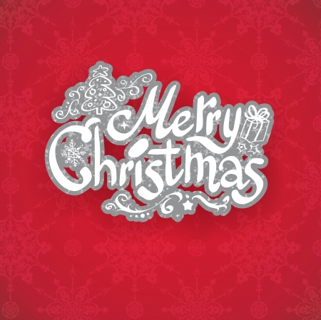 Merry Christmas holiday card Vector
