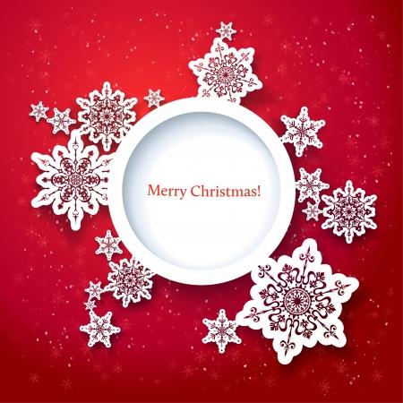 feriado: Diseño rojo de la Navidad con el espacio para el texto Vectores