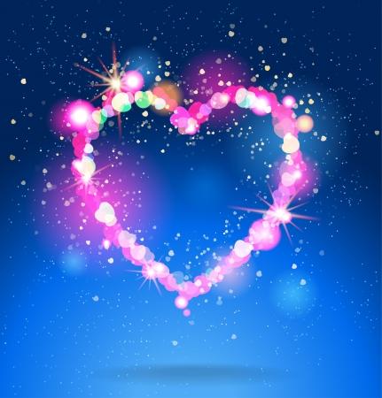 Shining heart Stock Vector - 20598700
