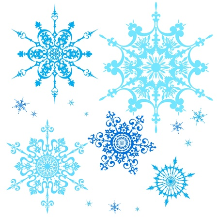 star ornament: Set of snowflakes Illustration
