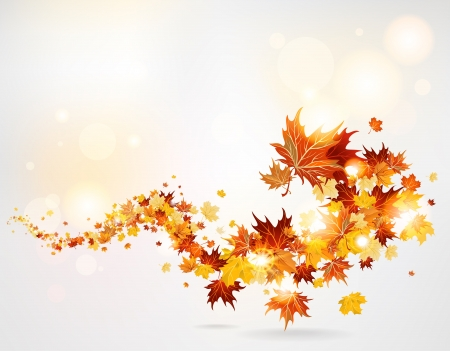 葉の渦巻  イラスト・ベクター素材