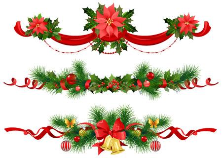spruce: Christmas festive decoration with  spruce  tree