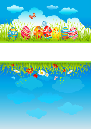 Easter background with space for text Çizim