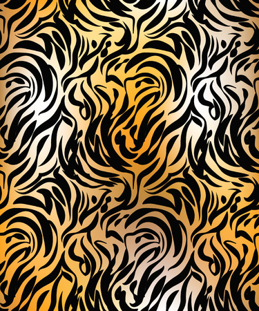 Abstract tiger skin seamless pattern Vector