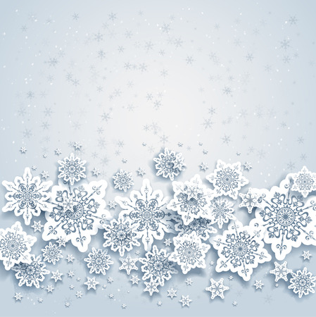 Abstract background with snowflakes  Space for your text   Ilustrace
