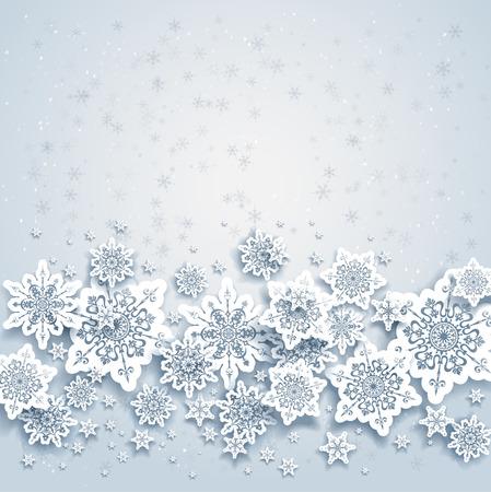 f�tes: R�sum� de fond avec des flocons de neige de l'espace pour votre texte Illustration