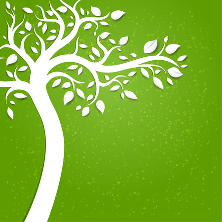 Background with tree with space for text   Vector