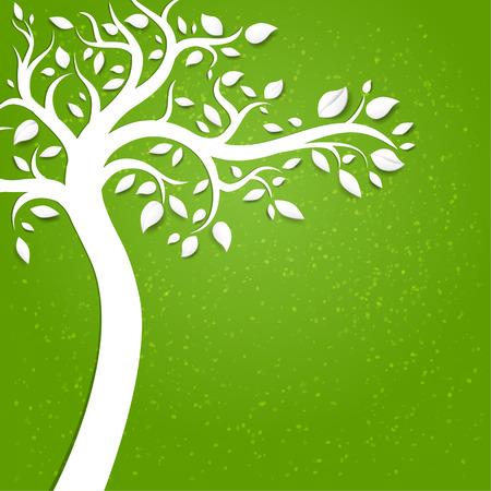 summer trees: Fondo con el �rbol con espacio para el texto Vectores