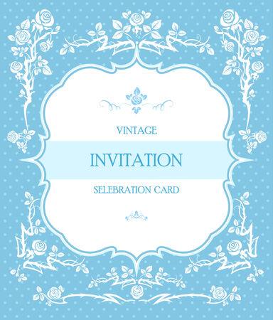 shabby: Blue elegant background for wedding or holiday