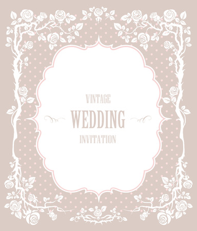Elegant vintage background. For wedding or holiday with space for text   Illustration