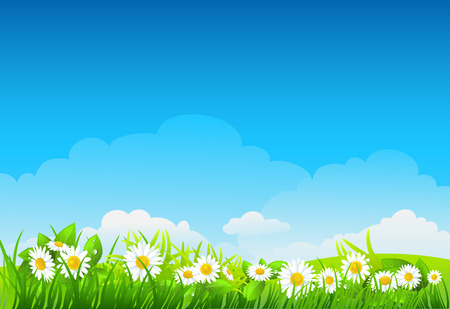 Summer background with flowers Vector