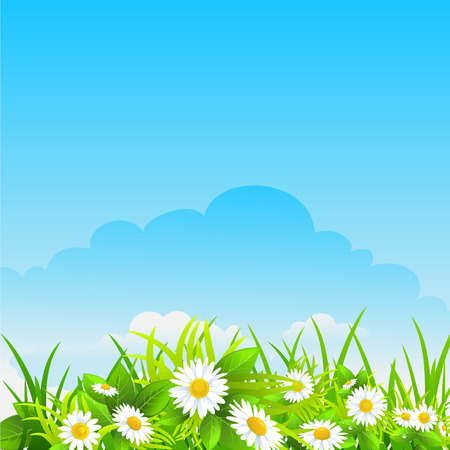 Summer sunny background with space for text