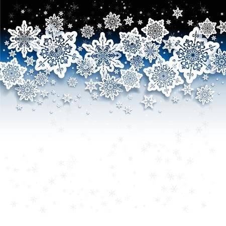 Abstract background mit Schneeflocken Illustration