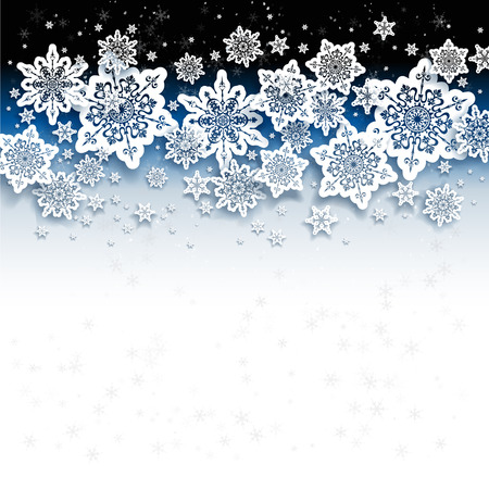 Abstract background with snowflakes Ilustração