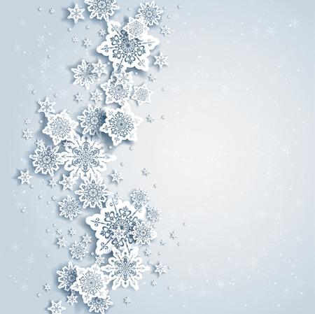 Abstrakt bakgrund med snöflingor Illustration