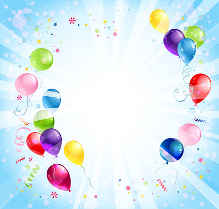 Holiday bright background with balloons