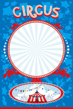 Blue circus poster with space for text Vektoros illusztráció
