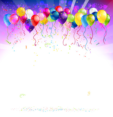 Festive background with balloons  Vector