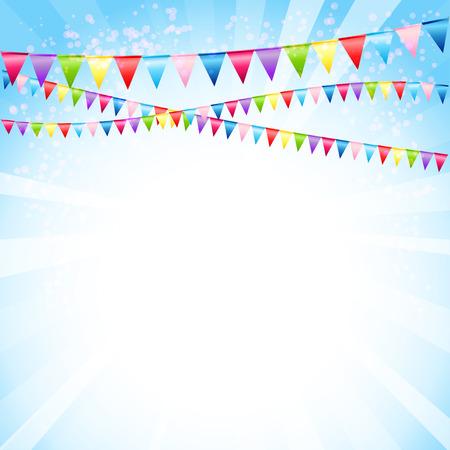 Feestelijke achtergrond met vlaggen