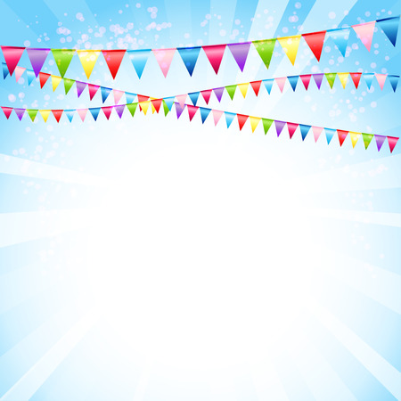 birthday party: Festive background with flags