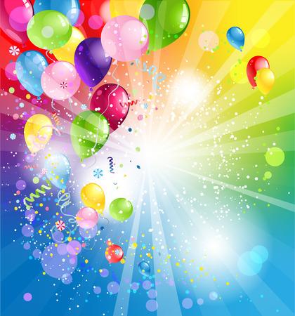 Dovolená backgrund s balónky Ilustrace