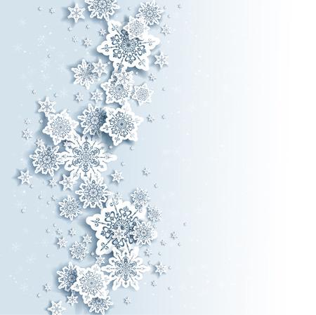 Winter achtergrond met ruimte voor tekst Stock Illustratie