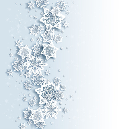 seasons greetings: Winter background with space for text Illustration