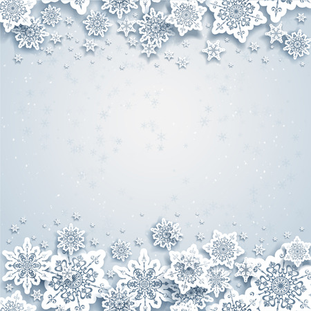 Abstract winter background with snowflakes Stock Vector - 29747755