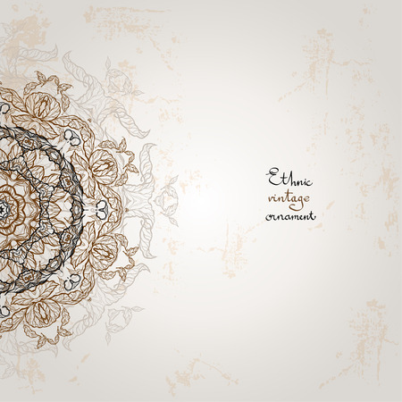 Background with ethnic ornament with space for text Vector