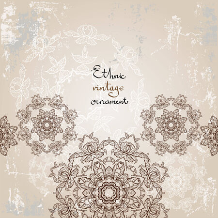 Beautiful ethnic background with copy space Vector