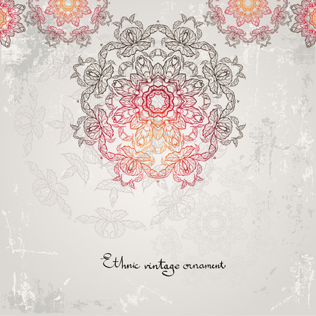 ornamental background: Beautiful ethnic ornamental  background  Illustration