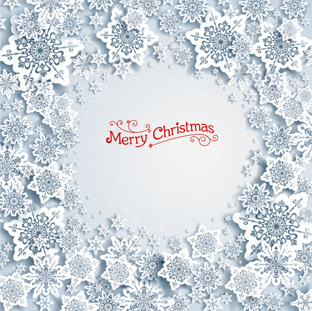 Christmas background with snowflakes with space for text Vector