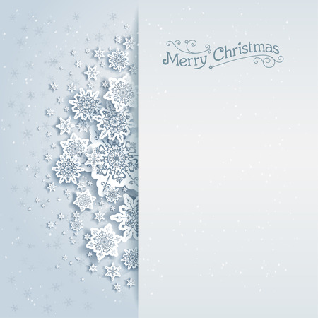 december holidays: Christmas vector background with space for text