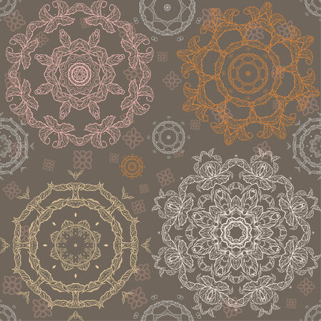 Ornamental vintage pattern. Hand drawn seamless background. Vector