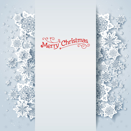 Winter holiday background with space for text