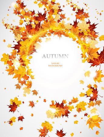 Abstracte herfst achtergrond met bladeren