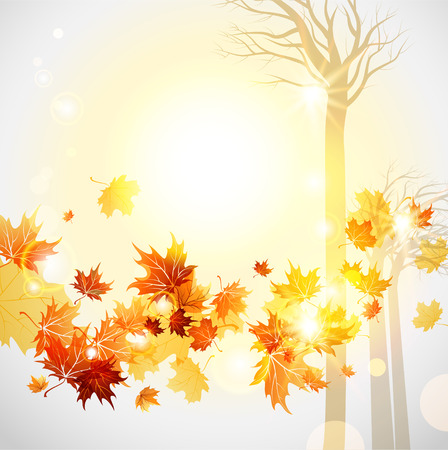 cooper: Autumn background with space for text