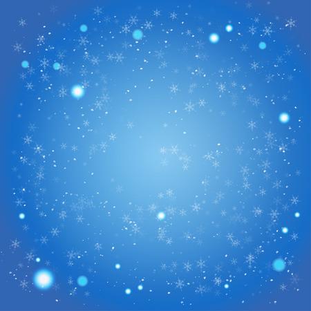 冬の青色の背景にテキスト用のスペース