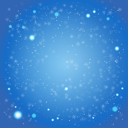 diciembre: Invierno fondo azul con espacio para el texto