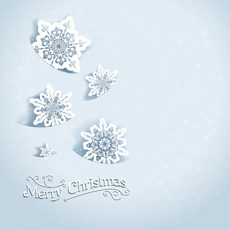 december holidays: Holiday background with snowflakes Illustration