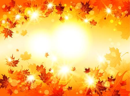 Bright abstrakten Hintergrund mit herbstlichen Blätter mit Platz für Text Illustration