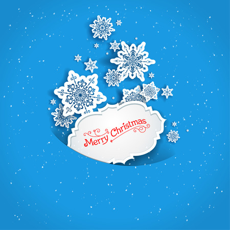 Holiday blue snow background with place for text Vector