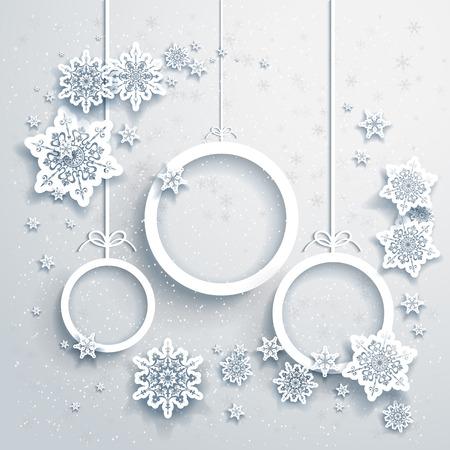 adornos navide�os: De fondo de Navidad con adornos Vectores