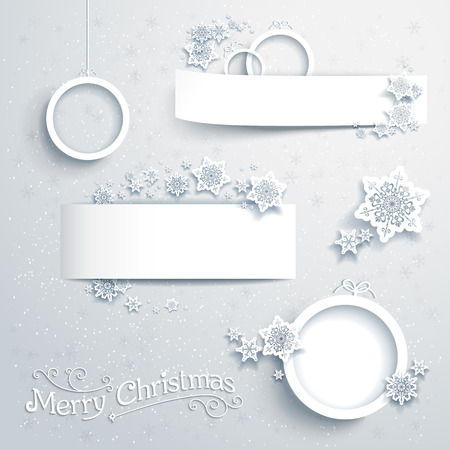 Christmas banners and design elements Vector