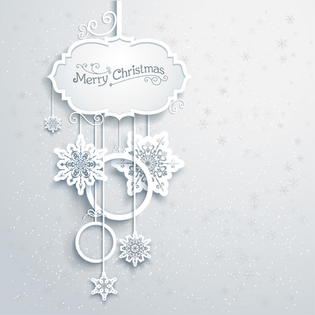 xmas decoration: Christmas decoration with snowflakes