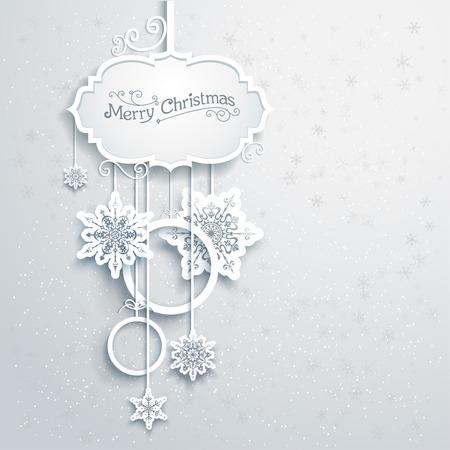 Navidad: Decoración de Navidad con copos de nieve