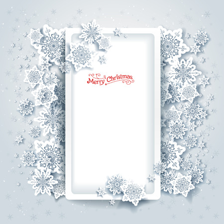 place for text: Christmas frame with place for text