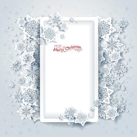 place for text: Marco de la Navidad con el lugar para el texto