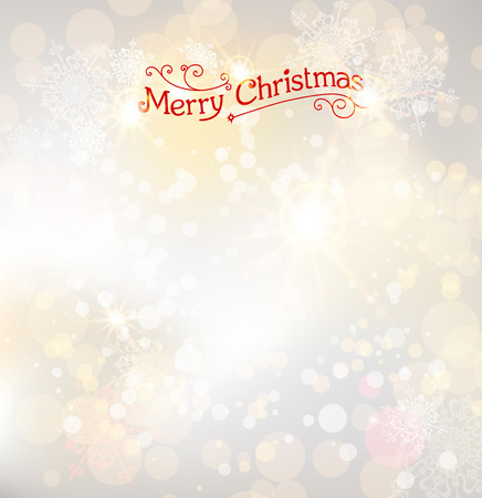 Light christmas background with place for text Vector