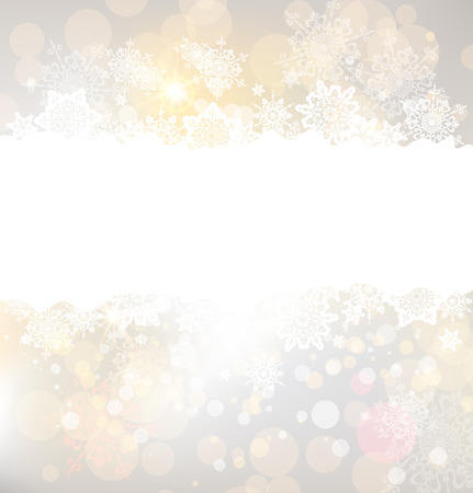 Christmas background and snowflakes, place for text. Vector